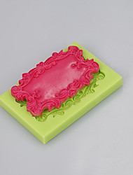 Rectangular mirror silicone mold fondant chocolate cake decorating tools handmade soap mold