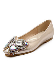 Women's Flats Fall Flats Leatherette Outdoor / Dress / Casual Flat Heel Others Gold Walking