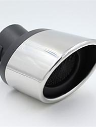 Silencieux en acier inoxydable automobile tuyau d'échappement arrière gorge modifiée tube d'étambot spéciale