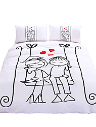 BeddingOutlet Swing Bedding Set Love Valentine's Day Gift Bedspread Twin Full Queen King for Family Bed Set