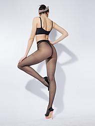 BONAS® Femme Couleur unie Moyen Legging-@7005