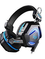 EACH GS210 Wired Gaming Headset Surround Stereo Bass Remote Control HiFi Computer Gamer Headphone Support PS3 With Mic