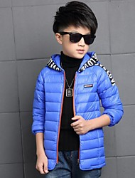 Boy's Casual/Daily Solid Down & Cotton PaddedPolyester Winter Black / Blue / Green / Orange / Yellow