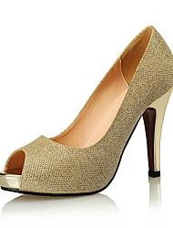 Women's Sandals Heels / Peep Toe / Styles Glitter Wedding / Party & Evening / Dress Stiletto Heel Sparkling Glitter