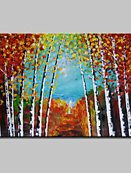 Hand Painted Abstract Tree Landscape Oil Painting On Canvas Wall Art Picture For Home Decoration Ready To Hang