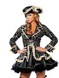 Costumes Pirate Halloween Noir Imprimé Térylène Robe / Chapeau