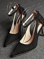 Homme-Habillé-Noir-Talon Aiguille-Confort-Chaussures à Talons-Daim