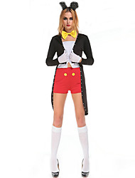 Cosplay Costumes Animal / Fairytale Movie Cosplay Black Solid Top / Pants / Headpiece / Tuxedo Halloween / Christmas / New Year Female