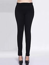 Pantaloni Da donna Skinny Moda città Poliestere / Elastene Elasticizzato