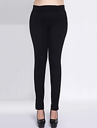 Women's Plus Size High Waist Solid Blue / Black Bodycon Thin Skinny PantsStreet chic Fall