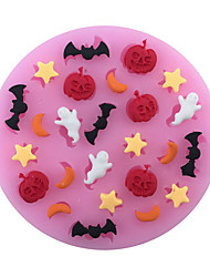 1PC Diy Halloween Pumpkins And Ghost Bat Cake Mold 3D Silicone Mould Cake Decorating Baking Tool  Random Color