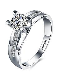 2016 Noble Luxury Wedding 18KGP Platinum Zircon Engagement Ring For Women