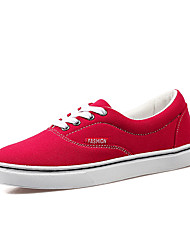 Breathable Canvas Shoe for Women's Lace-up Skateboarding Shoes for Walking/Traveling
