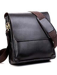 Men Cowhide Formal Shoulder Bag Brown
