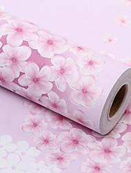 Цветочные Обои Для дома Современный Облицовка стен , ПВХ/винил материал Самоклейки обои , номер Wallcovering