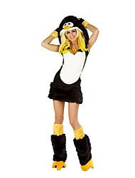 Costumes de Cosplay / Costume de Soirée Animal Fête / Célébration Déguisement Halloween Noir Mosaïque Robe / Boucle Halloween Féminin