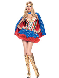 Costumes Super Heroes Halloween Blue Polka Dot Terylene Dress / More Accessories