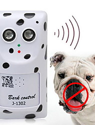 Dog Electronic Behaviour Aids Ultrasonic Wireless Anti Bark White Plastic