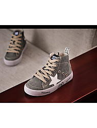 Unisex Sneakers Spring Fall Comfort Leather Outdoor Flat Heel Others Black Gray Walking