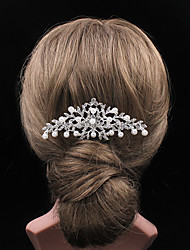 The Pearl Rhinestone Flower Comb