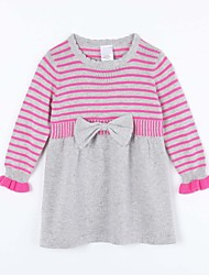 Girl's Casual/Daily Striped Dress / Sweater & CardiganCotton Fall Gray