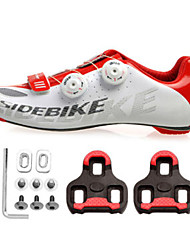 Cycling Shoes Unisex Outdoor / Road Bike Sneakers Damping / Cushioning White / Red-sidebike And LOOK Lock Sheet