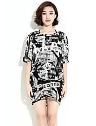 HANBELLE® Damen Rundhalsausschnitt Kurze Ärmel T-Shirt Schwarz-825#