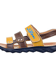 Boy's Sandals Summer Sandals / Round Toe PU Casual Flat Heel Others / Hook & Loop Blue / Brown Others