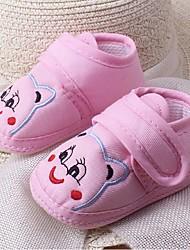 Unisex Flats Fall Crib Shoes Cotton Casual Flat Heel Animal Print Blue / Pink / White Walking