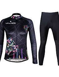 ILPALADINO Cycling Jersey with Tights Women's Long Sleeves Bike Clothing Suits Quick Dry Ultraviolet Resistant Breathable Reflective