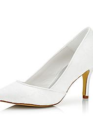 Damen-High Heels-Hochzeit / Kleid / Party & Festivität-Seide / Tüll-Stöckelabsatz-Komfort-Weiß