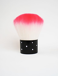 Byfunme  Mosaic Rhinestone Wool Brush Pink /Powder Brush /Blush Brush 2Way