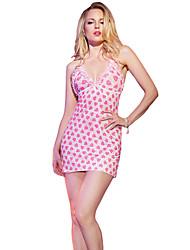 Damen Babydoll & slips Nachtwäsche,Sexy einfarbig-Polyester / Elasthan Dünn Rosa Damen