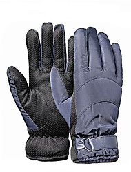 Korean Cold And Thick Velvet Washed Leather Motorcycle Gloves