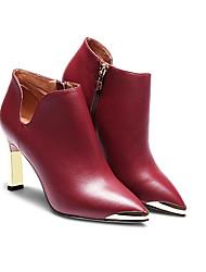 Damen-Stiefel-Lässig-Wildleder-Stöckelabsatz-Modische Stiefel-Blau / Rot