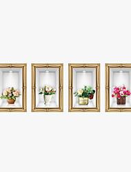 Natal / Floral / 3D Wall Stickers Autocolantes de Aviões para Parede / Autocolantes 3D para Parede Autocolantes de Parede Decorativos,PVC