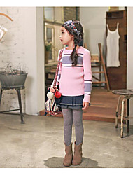 Girl's Casual/Daily Striped Sweater & CardiganCotton Fall Blue / Pink