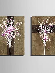 фантазия / ботанический Холст для печати 2 шторы Готовы повесить , Вертикальная