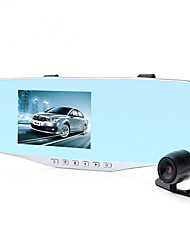 Driving Recorder Dual Lens 1080P HD Night Vision Ultra Slim Car Rear View Mirror 4.3 Inch Screen