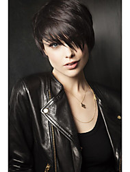 Natural Wavy Short Human Hair Wigs For  Woman
