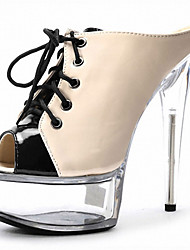 Fashion Week Women's Heels / Peep Toe / Platform / Sandals Patent  Strappy / Leather Party & Evening / Casual Stiletto
