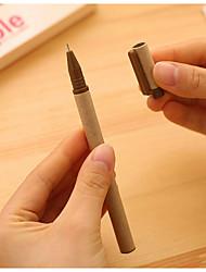 papel kraft caneta gel tinta preta