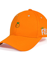 Unisex Cotton Lovely Couple Fruit Pattern Embroidered Candy-colored Sun Hat Casual  Baseball Cap