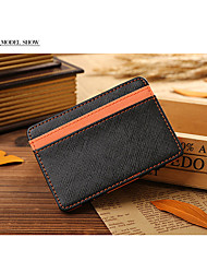 Men PU Casual Card & ID Holder