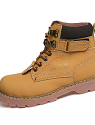 Unisex Sneakers Spring / Fall Comfort PU Casual Flat Heel Brown / Yellow / Khaki Sneaker