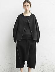 сплошной черный гарем pantssimple падение rizhuo женщин