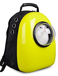 Cat Dog Carrier & Travel Backpack Astronaut Capsule Carrier Pet Carrier Portable Breathable Cute Solid Yellow Rose Green