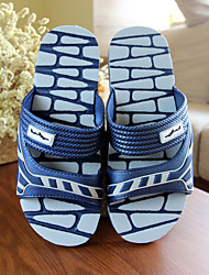Men's Slippers & Flip-Flops Summer Slingback Rubber Casual Flat Heel Others Blue / Green / Gray Others