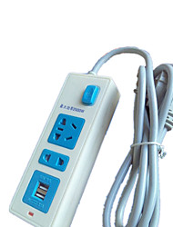USB Power Strip Outlet With Multi-Line Power Socket With Waterproof Power Plug