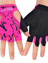 Women's Outdoor Riding Cyling Gloves Fitness Equipment Dumbbell Skid Half Finger Sports Gloves 1 Pair